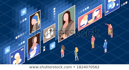 Online museum tours abstract concept vector illustration. Stock photo © RAStudio