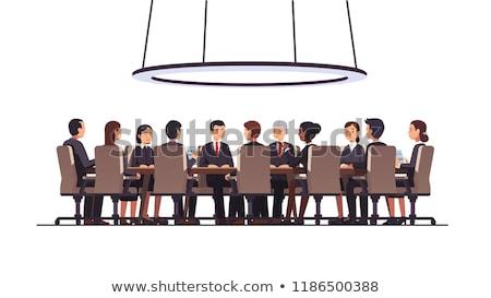 Asztal tárgyaló nemzetközi konferencia üzlet vállalati Stock fotó © dolgachov