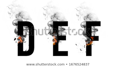 Stock photo: fire small letter f