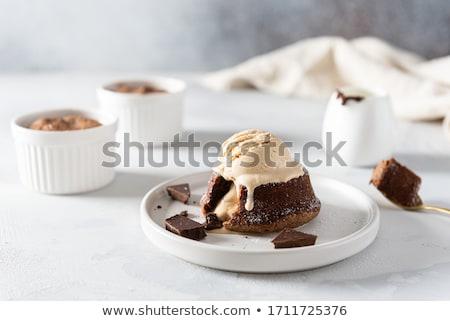 Chocolate souffle Stock photo © danielgilbey