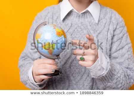 vintage · mundo · globo · ornamento · isolado - foto stock © pterwort