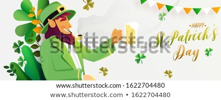Leprechaun Enjoying a Mug of Beer Stock photo © AlienCat