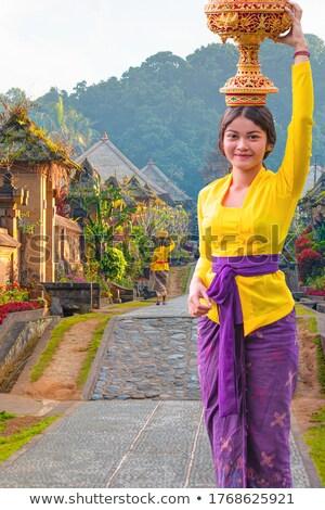 Balinese village Stock photo © joyr