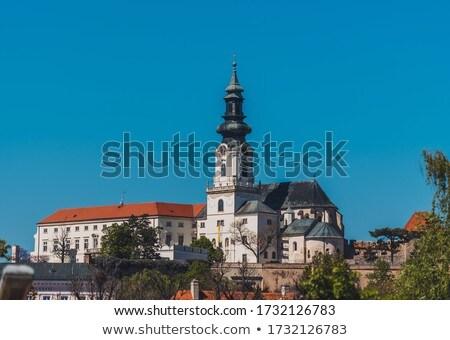 Nitra city cathedral Stock photo © hraska