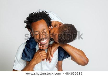 отец молодые ребенка черный семьи стороны Сток-фото © koca777