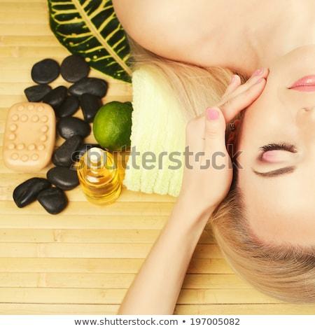 güzel · genç · kadın · lezzet · banyo · top · yalıtılmış - stok fotoğraf © nejron