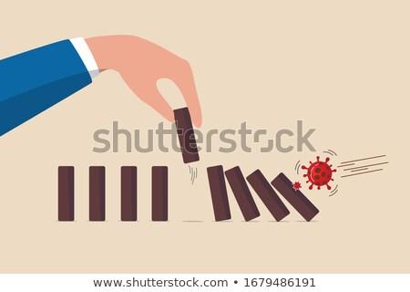 domino · neden · takım · çalışması - stok fotoğraf © devon