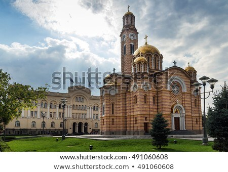 Catedral Cristo Bosnia Herzegovina puerta iglesia arquitectura Foto stock © joyr
