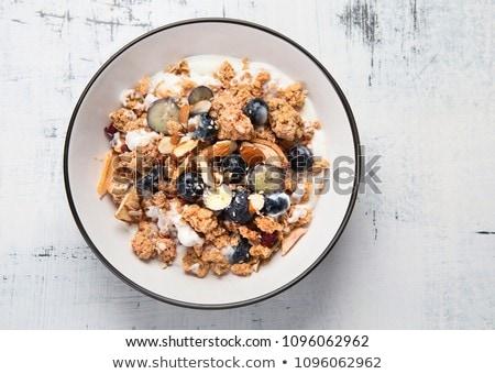 Muesli arándano madera fondo crema comida Foto stock © M-studio