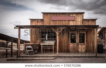 Abamdoned Buildings California Wild West Mojave Desert  Stock photo © cboswell