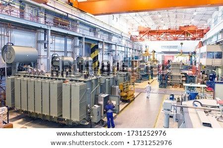 Macht transformator detail landschap industriële energie Stockfoto © pedrosala