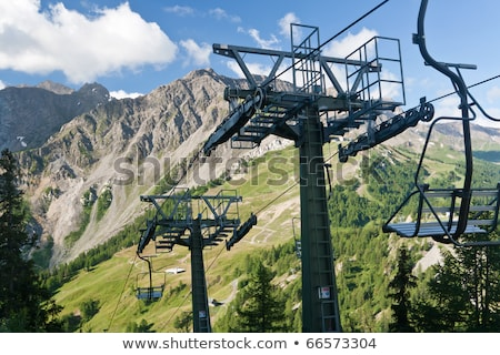chair lift and Mont Blanc Stock photo © Antonio-S