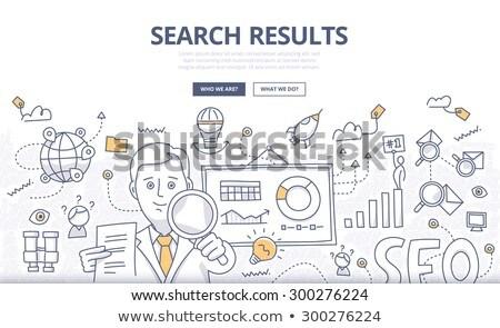 Análise informação rabisco projeto ícones Foto stock © tashatuvango