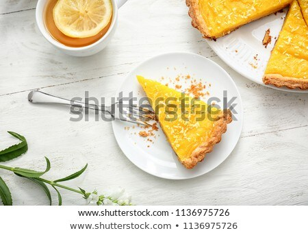 Limón tarta agrios madera fondo torta Foto stock © M-studio