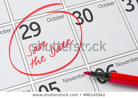 Stock photo: Save the Date written on a calendar - October 29