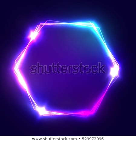 抽象的な · 暗い · 光 · 六角形 - ストックフォト © Tefi