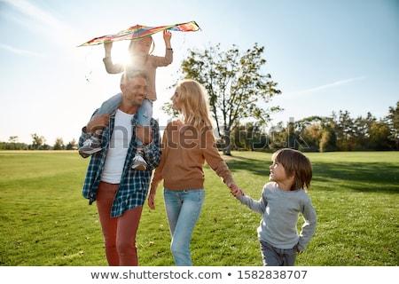 2 女の子 青空 日光 明るい 女性 ストックフォト © gregorydean