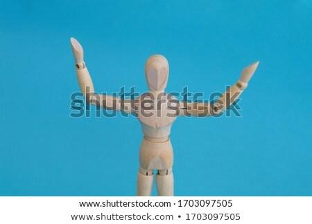 Statuetka stałego strony biały Zdjęcia stock © wavebreak_media