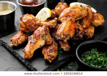 tavuk · kızartma · kanatlar · taze · sebze · teriyaki · sos · gıda - stok fotoğraf © dash