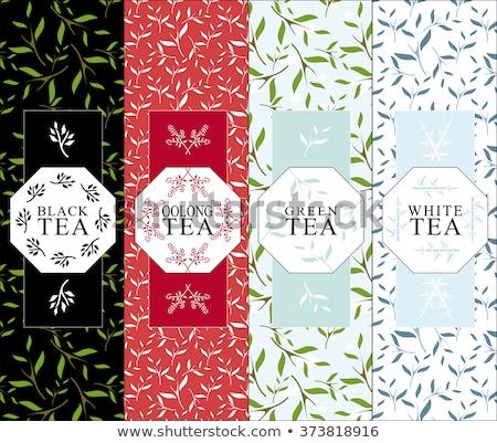черный зеленый красный чай окна различный Сток-фото © karandaev