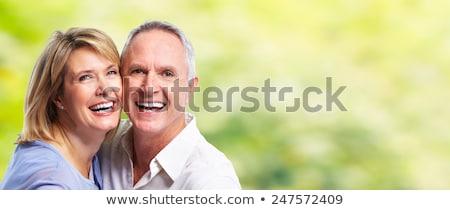 Boldog idős pár zöld természetes aggkor emberek Stock fotó © dolgachov