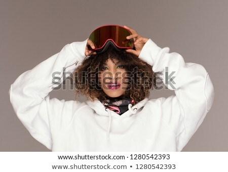 Africano mulher snowboard Foto stock © NeonShot