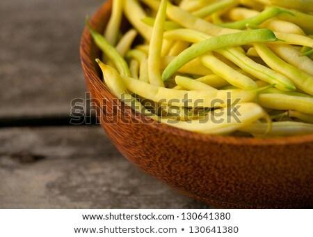 黄色 文字列 豆 木製 ボウル ストックフォト © Virgin