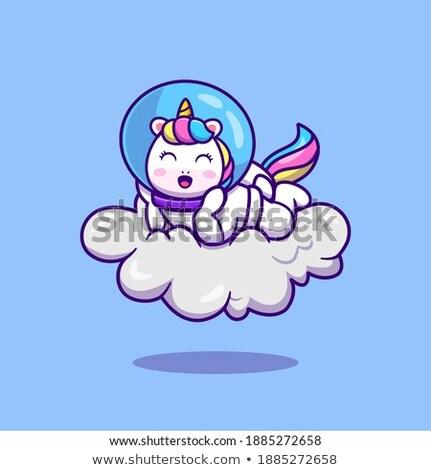 A unicorn lay on cloud Stock photo © bluering