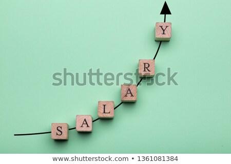 Salario texto gráfico verde superficie Foto stock © AndreyPopov