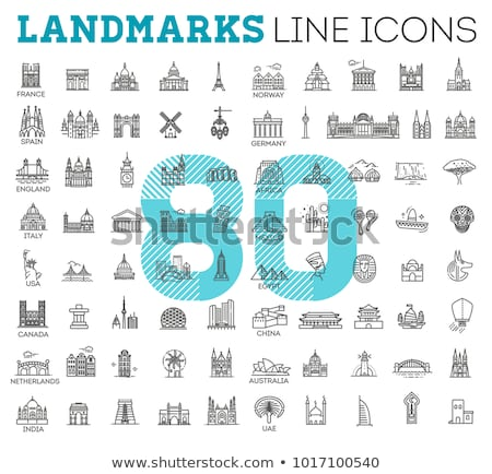 Mundo iconos decorativo establecer coliseo Foto stock © netkov1