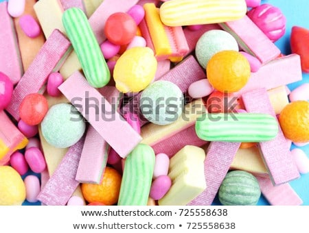 Heap of mint different chewing gums Stock photo © dariazu