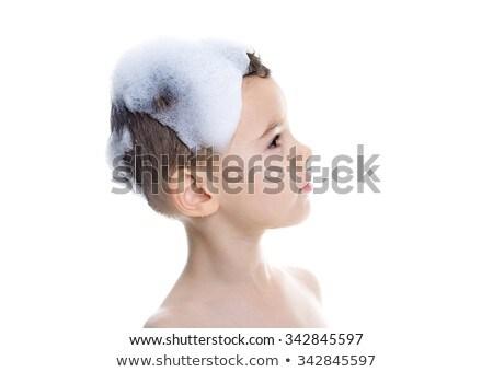 かわいい 子 少年 洗濯 髪 孤立した ストックフォト © Lopolo