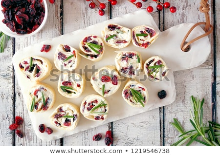 Cranberry Cream Cheese Pinwheels for the Holidays  Stock photo © StephanieFrey