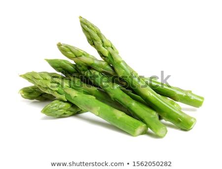 Kuşkonmaz ahşap masa yeşil gıda bitki Stok fotoğraf © tycoon