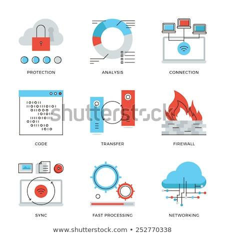 Codificación archivo documento vector delgado línea Foto stock © pikepicture