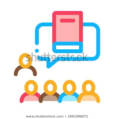 Literair gemeenschap icon vector schets illustratie Stockfoto © pikepicture