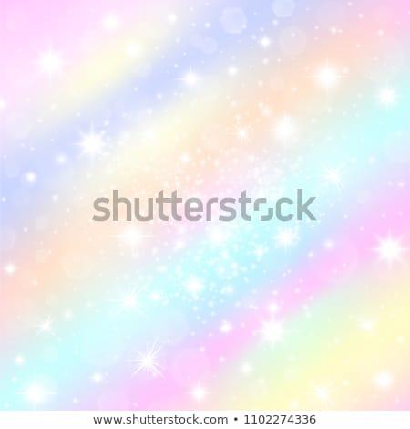 Violet blue bokeh gradient vector background. Stock photo © yopixart