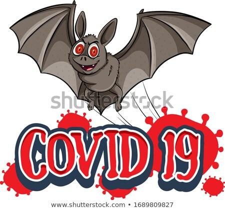 Poster design for coronavirus theme with wild bat Stock photo © bluering