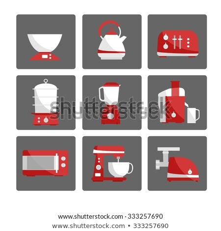 Elektrische ketel maat keuken apparaat geïsoleerd Stockfoto © robuart