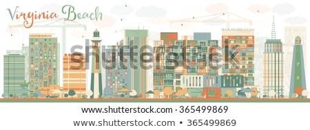 Abstrato Virgínia praia linha do horizonte cor edifícios Foto stock © ShustrikS