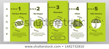 Tornado And Hurricane Onboarding Elements Icons Set Vector Stock photo © pikepicture