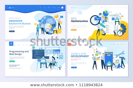 Business solution concept illustration for web design, banner, mobile app Stock photo © natali_brill