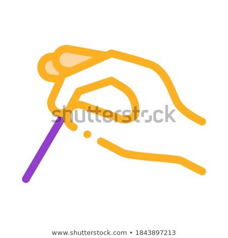 Hand acupunctuur icon vector schets Stockfoto © pikepicture