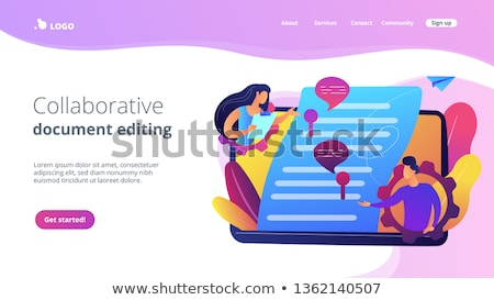 Shared document vector concept metaphor Stock photo © RAStudio
