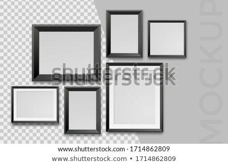 Vide art cadres galerie mur Photo stock © Anneleven