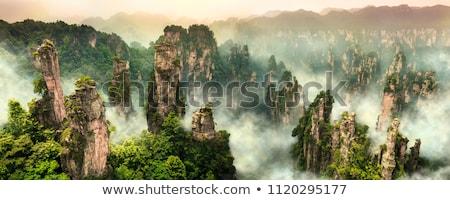 Hegyek Kína híres turisztikai attrakció kő szirt Stock fotó © dmitry_rukhlenko