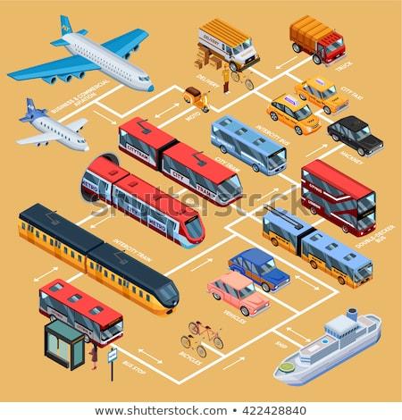 公共交通機関 アイソメトリック アイコン ベクトル にログイン ストックフォト © pikepicture