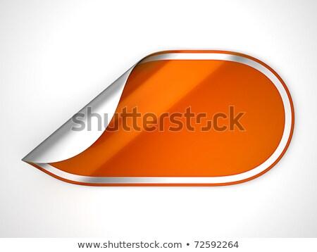 Orange Rounded Hamous Sticker Or Label Stok fotoğraf © Arsgera