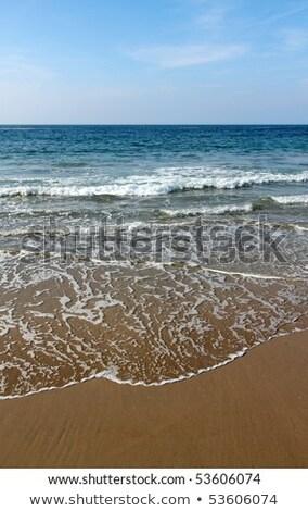 Hullámok tengerpart Cornwall víz fehér horizont Stock fotó © latent