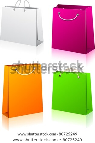 set of 4 shopping package stock photo © place4design